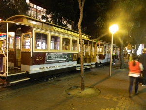 One of the many cable cars in SF