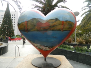 Heart shaped sculpture at Union Square